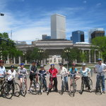 group tour at Civic Center Park