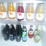 juices/soda in minibar