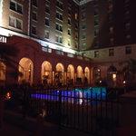 evening around the pool