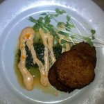 Fried Green Tomatoes & Black-eyed Pea Cakes