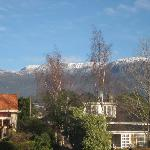 The view of Mt Wellington from the driveway