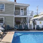 Pool area and Apt. decks