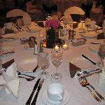 Our table at the wedding reception.