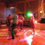 The dance floor, we boogied all night!