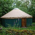 The rustic yurt we stayed in.