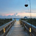 boardwalk out to the beach