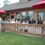 Outside seating at resort restaurant