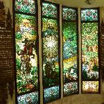 Art Nouveau windows, Gellert baths