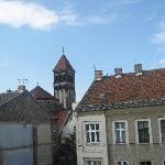 View from our bedroom towards Herz Jesu church
