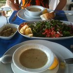 fish soup and great salad