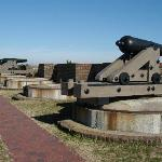 Cannon on top of fort