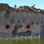Union damage to the fort