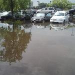 Ramada O'hare Parking lot 8-23-11 Cars Ruined