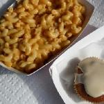 Mac N Cheese with Peach Cobbler