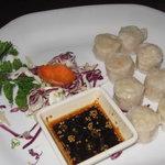 Shrimp in dumplings