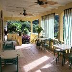 Area de Balcon del Restaurante