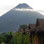 Vista del Volcan desde nuestro Hotel