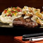 Crispy Onion Flat Iron Steak