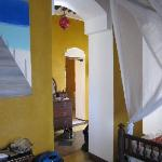 view from bedroom throughto bathroom in prestige suite