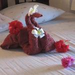 flowers on your bed every day by the housekeeper - not just on arrival