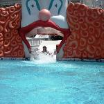 bottom of the resort pool slide