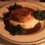 McKenzie's pork loin with garlic mash and spinach, very good!