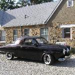 Neighbor with classic 1951 Studebaker