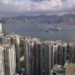 view from 30th floor overlooking old Kai Tak airport