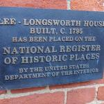 Historic designation plaque on the front of the house