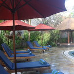 Relax by our lovely main pool at Sama's