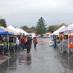 Berressa Farmers Market on a rainy day
