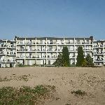 Back of Hotel from Lake Huron's edge