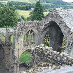 Melrose Abbey view from a tower