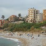 The public beach