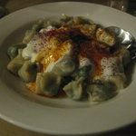 Spinach manti, a daily special