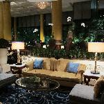 One of many sitting areas in the lobby.
