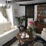 Welcome tea in sitting room