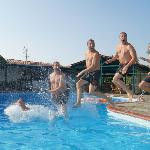 People went wild in the swimming pool !
