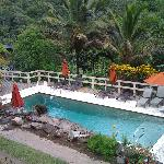 non-heated pool. view from main communal porch