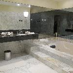 Huge bathroom with jacuzzi tub