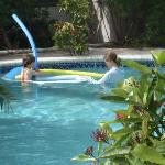 Freshwater tropical pool for guests of  'Blackbeards Quarters'