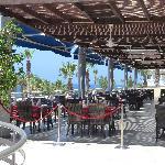 Outside terrace of restaurant