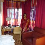 Inside of the room my wife,pleasant curtains view
