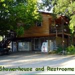 Showerhouse and restrooms
