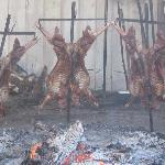 our lamb barbecue at the estancia