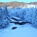 Il rifugio del Cavone in inverno