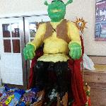 Shrek cheese sculpture!