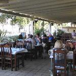 El Mar la Mar outside dining area.