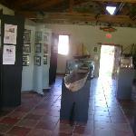 Interior: Objetos arqueológicos y tarjetas informativas