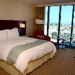 InterContinental King Bedroom on the 16th floor with a view towards AT&T Park through the floor-